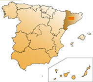 Map of Cataluña